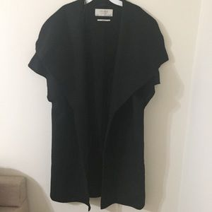 ZARA Outerwear Handmade Wool Short Sleeved Coat